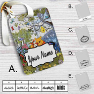 Pooh and Friends Disney Custom Leather Luggage Tag