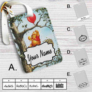 Pooh and Piglet Custom Leather Luggage Tag