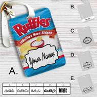 Ruffles Original Custom Leather Luggage Tag