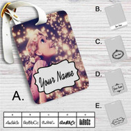 Tangled Rapunzel in The Light Custom Leather Luggage Tag