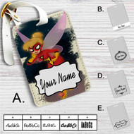 Tinkerbell as Spiderwoman Custom Leather Luggage Tag