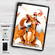 "Charmander & Ash Pokemon 1 iPad 2 3 4 iPad Mini 1 2 3 4 iPad Air 1 2 | Samsung Galaxy Tab 10.1"" Tab 2 7"" Tab 3 7"" Tab 3 8"" Tab 4 7"" Case"