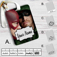 Arrow and The Flash Custom Leather Luggage Tag