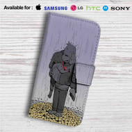 Asriel and Chara Undertale Custom Leather Wallet iPhone 4/4S 5S/C 6/6S Plus 7| Samsung Galaxy S4 S5 S6 S7 Note 3 4 5| LG G2 G3 G4| Motorola Moto X X2 Nexus 6| Sony Z3 Z4 Mini| HTC ONE X M7 M8 M9 Case