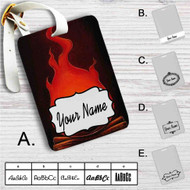 Calcifer Howl's Moving Castle Custom Leather Luggage Tag