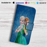 Elsa and Anna Frozen Forever Custom Leather Wallet iPhone 4/4S 5S/C 6/6S Plus 7| Samsung Galaxy S4 S5 S6 S7 Note 3 4 5| LG G2 G3 G4| Motorola Moto X X2 Nexus 6| Sony Z3 Z4 Mini| HTC ONE X M7 M8 M9 Case