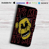 Freddy Fazbear It'e Me Custom Leather Wallet iPhone 4/4S 5S/C 6/6S Plus 7| Samsung Galaxy S4 S5 S6 S7 Note 3 4 5| LG G2 G3 G4| Motorola Moto X X2 Nexus 6| Sony Z3 Z4 Mini| HTC ONE X M7 M8 M9 Case