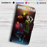 Frisk and Chara Undertale Custom Leather Wallet iPhone 4/4S 5S/C 6/6S Plus 7| Samsung Galaxy S4 S5 S6 S7 Note 3 4 5| LG G2 G3 G4| Motorola Moto X X2 Nexus 6| Sony Z3 Z4 Mini| HTC ONE X M7 M8 M9 Case