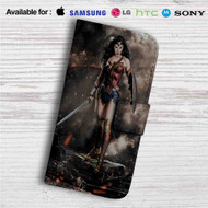 Gal Gadot as Wonder Woman Custom Leather Wallet iPhone 4/4S 5S/C 6/6S Plus 7| Samsung Galaxy S4 S5 S6 S7 Note 3 4 5| LG G2 G3 G4| Motorola Moto X X2 Nexus 6| Sony Z3 Z4 Mini| HTC ONE X M7 M8 M9 Case