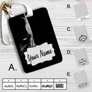 Face of Batman Custom Leather Luggage Tag