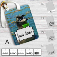 Gerald Finding Dory Custom Leather Luggage Tag