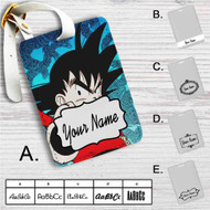 Goku Child Custom Leather Luggage Tag