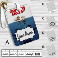 Gravity Falls as Jaws Custom Leather Luggage Tag