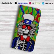 Make America Grateful Dead Custom Leather Wallet iPhone 4/4S 5S/C 6/6S Plus 7  Samsung Galaxy S4 S5 S6 S7 Note 3 4 5  LG G2 G3 G4  Motorola Moto X X2 Nexus 6  Sony Z3 Z4 Mini  HTC ONE X M7 M8 M9 Case