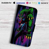 Shogun Warrior Godzilla Custom Leather Wallet iPhone 4/4S 5S/C 6/6S Plus 7  Samsung Galaxy S4 S5 S6 S7 Note 3 4 5  LG G2 G3 G4  Motorola Moto X X2 Nexus 6  Sony Z3 Z4 Mini  HTC ONE X M7 M8 M9 Case