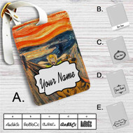 Scooby Doo The Scream Custom Leather Luggage Tag