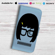 Tina Belcher Uhh Bobs Burgers Custom Leather Wallet iPhone 4/4S 5S/C 6/6S Plus 7| Samsung Galaxy S4 S5 S6 S7 Note 3 4 5| LG G2 G3 G4| Motorola Moto X X2 Nexus 6| Sony Z3 Z4 Mini| HTC ONE X M7 M8 M9 Case