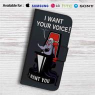 Ursula The Little Mermaid The Voice Custom Leather Wallet iPhone 4/4S 5S/C 6/6S Plus 7| Samsung Galaxy S4 S5 S6 S7 Note 3 4 5| LG G2 G3 G4| Motorola Moto X X2 Nexus 6| Sony Z3 Z4 Mini| HTC ONE X M7 M8 M9 Case