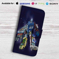 Voltron Legendary Defender Dr Who Custom Leather Wallet iPhone 4/4S 5S/C 6/6S Plus 7| Samsung Galaxy S4 S5 S6 S7 Note 3 4 5| LG G2 G3 G4| Motorola Moto X X2 Nexus 6| Sony Z3 Z4 Mini| HTC ONE X M7 M8 M9 Case