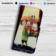 Zeldatale Zelda Undertale Custom Leather Wallet iPhone 4/4S 5S/C 6/6S Plus 7| Samsung Galaxy S4 S5 S6 S7 Note 3 4 5| LG G2 G3 G4| Motorola Moto X X2 Nexus 6| Sony Z3 Z4 Mini| HTC ONE X M7 M8 M9 Case
