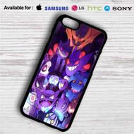 Gengar Pokemon iPhone 4/4S 5 S/C/SE 6/6S Plus 7  Samsung Galaxy S4 S5 S6 S7 NOTE 3 4 5  LG G2 G3 G4  MOTOROLA MOTO X X2 NEXUS 6  SONY Z3 Z4 MINI  HTC ONE X M7 M8 M9 M8 MINI CASE