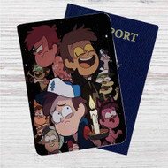 All Version of Dipper Gravity Falls Custom Leather Passport Wallet Case Cover