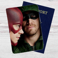 Arrow and The Flash Custom Leather Passport Wallet Case Cover