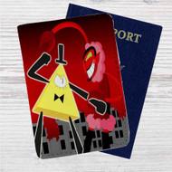 Bill Cipher vs HIM Custom Leather Passport Wallet Case Cover