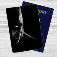 Face of Batman Custom Leather Passport Wallet Case Cover