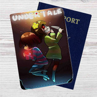Asriel and Chara Undertale Custom Leather Passport Wallet
