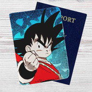 Goku Child Custom Leather Passport Wallet Case Cover