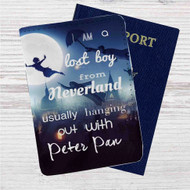 I am a Lost Boy from Neverland Peter Pan Custom Leather Passport Wallet Case Cover