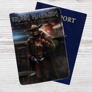 Iron Maiden Stranger in Strange Land Custom Leather Passport Wallet Case Cover