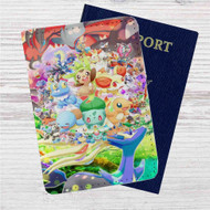 Kawaii Pokemon Custom Leather Passport Wallet Case Cover