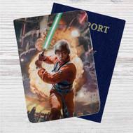Luke Skywalker Star Wars Custom Leather Passport Wallet Case Cover