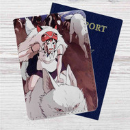Princess Mononoke and The Wolves Custom Leather Passport Wallet Case Cover
