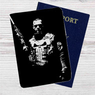 Punisher War Zone Custom Leather Passport Wallet Case Cover
