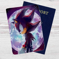 Sonic Shadow the Hedgehog Custom Leather Passport Wallet Case Cover