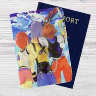 Sora Kairi and Riku Kingdom Hearts Custom Leather Passport Wallet Case Cover