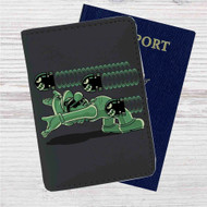 Super Mario Matrix Custom Leather Passport Wallet Case Cover
