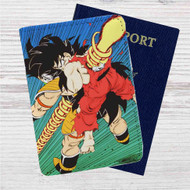 The death of Goku and Raditz Custom Leather Passport Wallet Case Cover