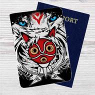 The Mask Princess Mononoke Custom Leather Passport Wallet Case Cover