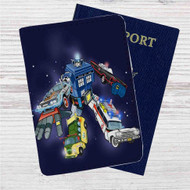 Voltron Legendary Defender Dr Who Custom Leather Passport Wallet Case Cover