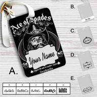 Ace of Spades Custom Leather Luggage Tag