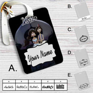 Aladdin and Jasmine Tim Burton Custom Leather Luggage Tag