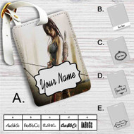 Lara Croft 4 Custom Leather Luggage Tag