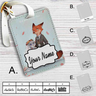 Nick and Judy Maried Zootopia Custom Leather Luggage Tag