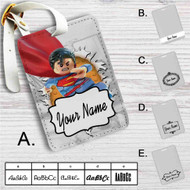 Superman Lego Custom Leather Luggage Tag