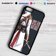 Assassin's Creed Altair Quotes iPhone 4/4S 5 S/C/SE 6/6S Plus 7| Samsung Galaxy S4 S5 S6 S7 NOTE 3 4 5| LG G2 G3 G4| MOTOROLA MOTO X X2 NEXUS 6| SONY Z3 Z4 MINI| HTC ONE X M7 M8 M9 M8 MINI CASE