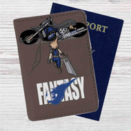 Akira Final Fantasy Custom Leather Passport Wallet Case Cover